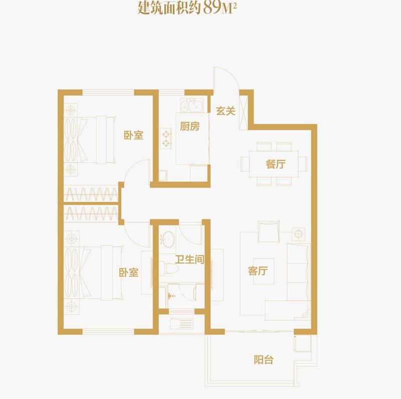 伟星蔚蓝海岸_2室2厅1卫1厨