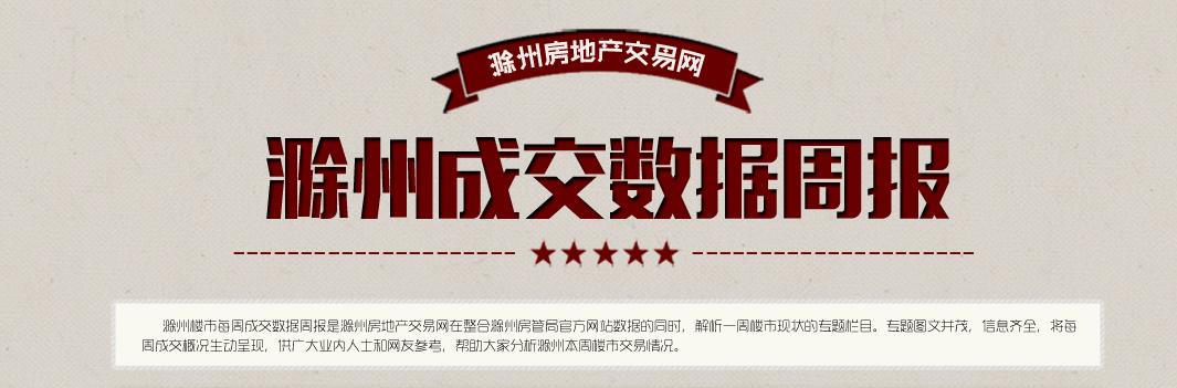 滁州楼市40周:宅销340套 环比上涨19.72%
