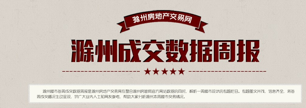 滁州楼市47周:宅销539套 环比上涨7.28%
