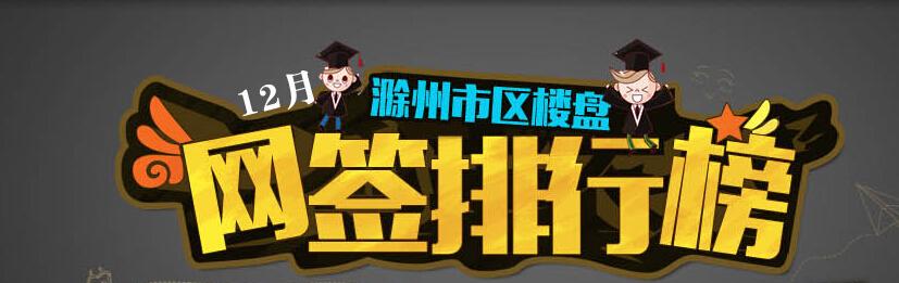 滁州楼市12月网签排名:天逸华府夺冠
