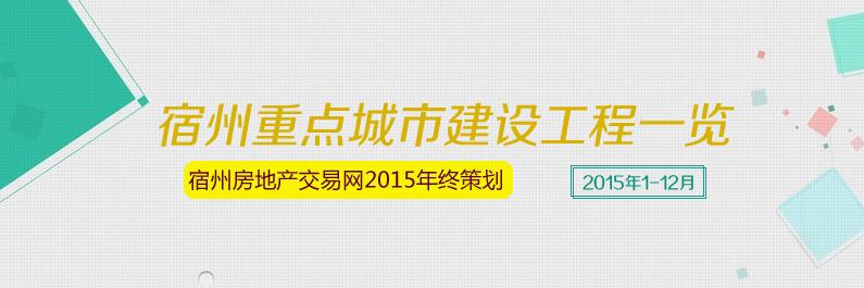宿州2015年1-12月城市重点工程建设项目一览
