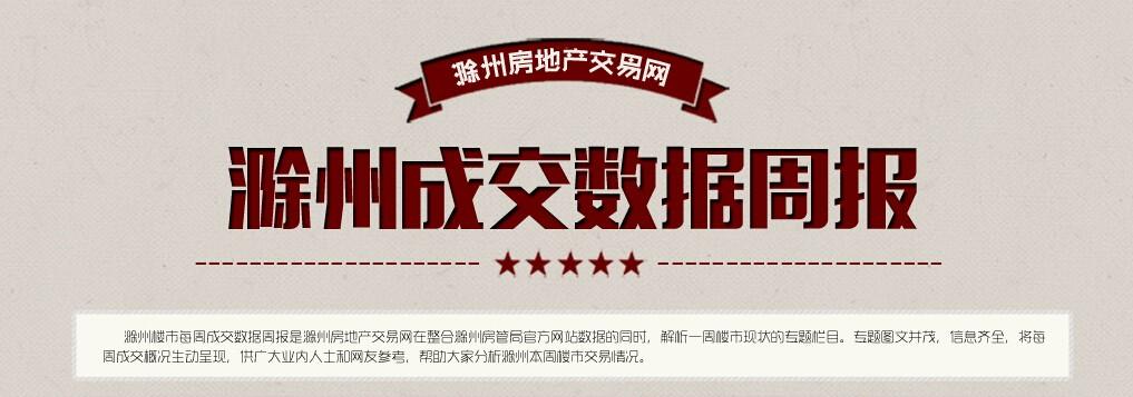 滁州楼市第9周:宅销1176套 环比下降17.01%