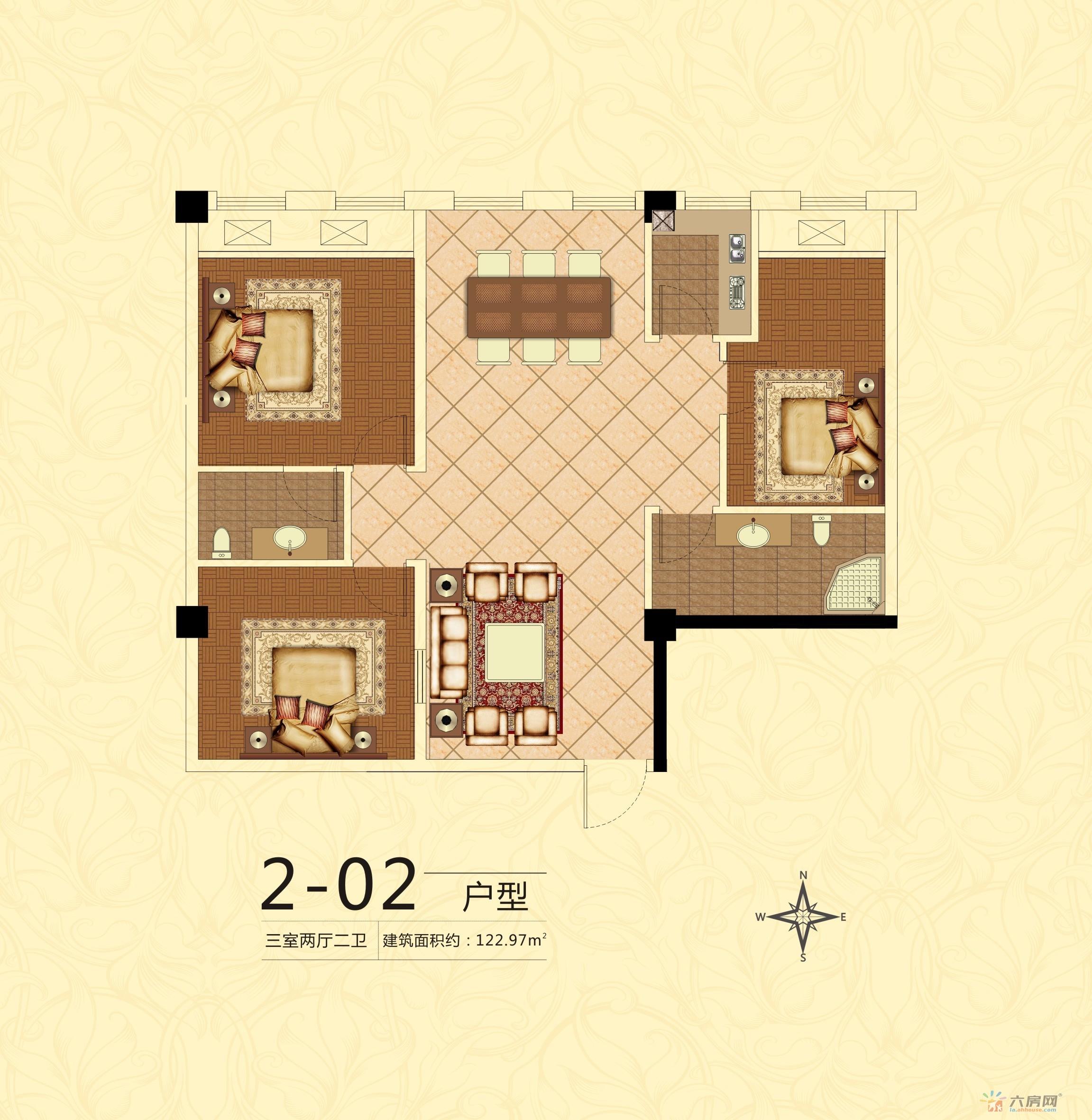 中银广场_3室2厅2卫0厨