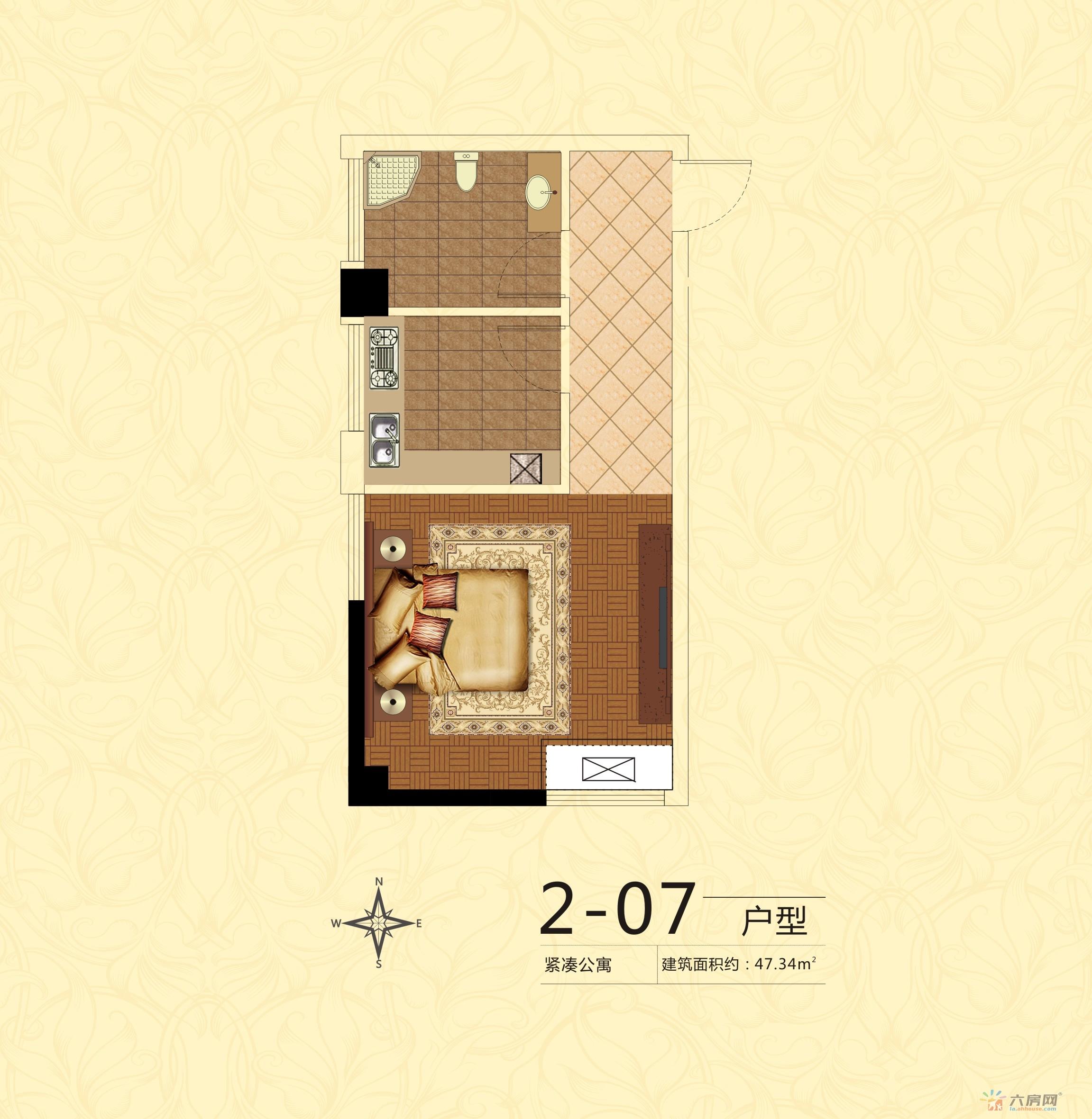 中银广场_1室1厅1卫0厨