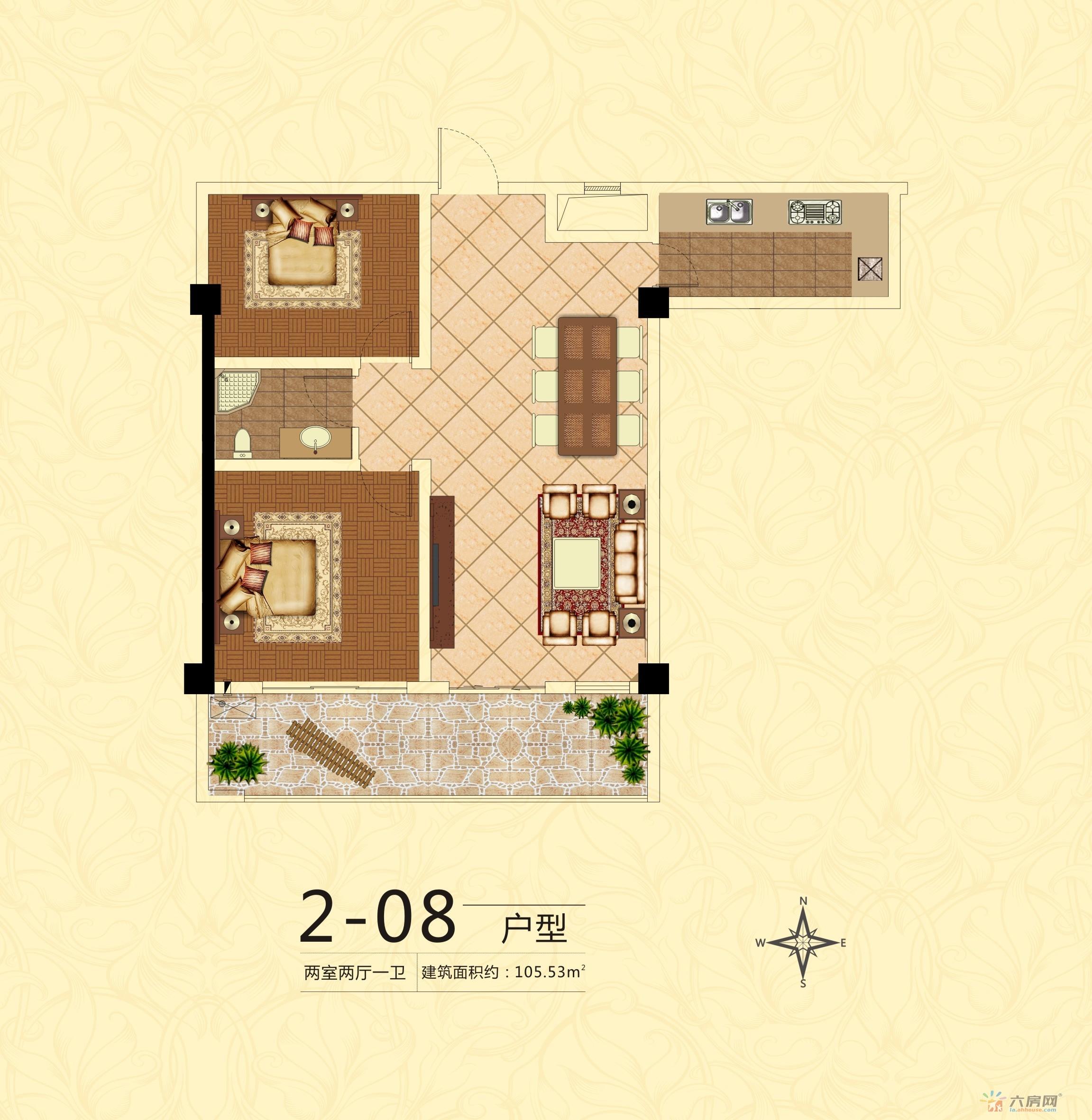 中银广场_2室2厅1卫0厨