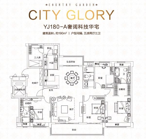 碧桂园·城市之光_5室2厅3卫1厨