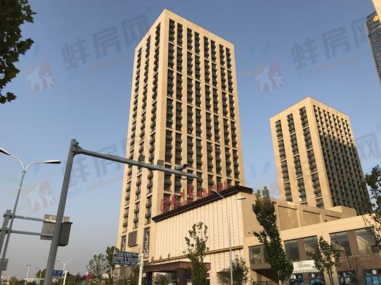蚌埠绿地中央广场11月工程进度 3#建至22层