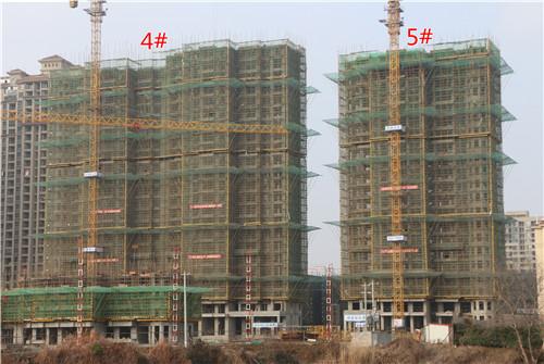 卓瑞北宸龙湖湾1月工程进度:5#楼建至22层