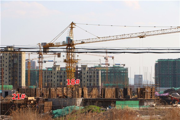 华仑熙华府3月工程进度:20#楼楼体建至3层