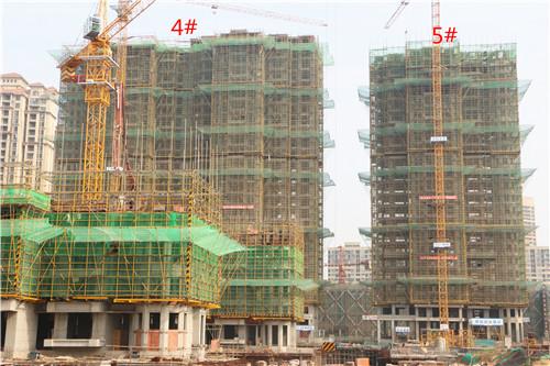 卓瑞北宸龙湖湾3月工程进度:4#楼已建至25层