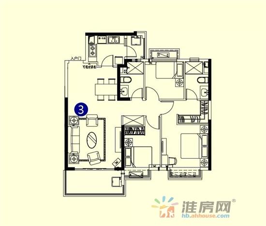 恒大御景湾_3室1厅2卫1厨