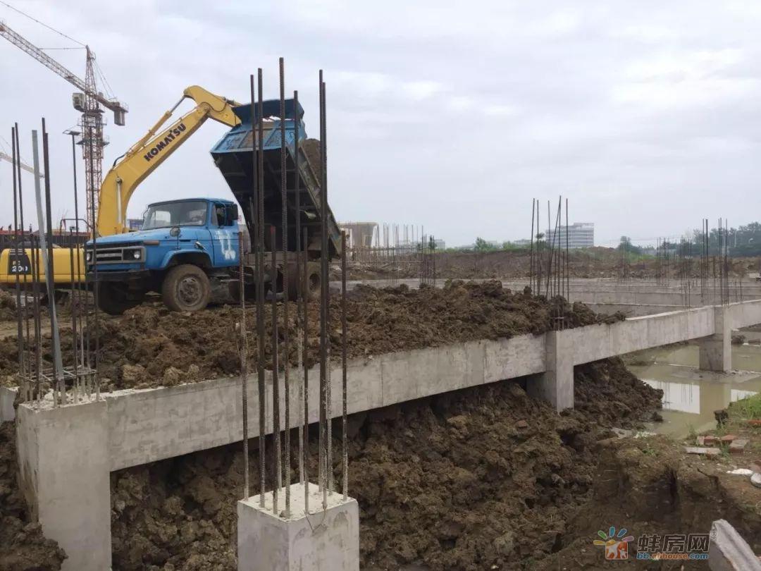 家博城二期工程进度 6#基础梁脚手架拆除完毕