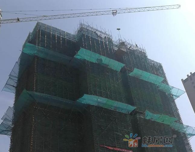 海亮天御5月工程进展 20-22#楼主体结构封顶