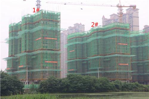 卓瑞北宸龙湖湾5月工程进度:1#楼已建至16层