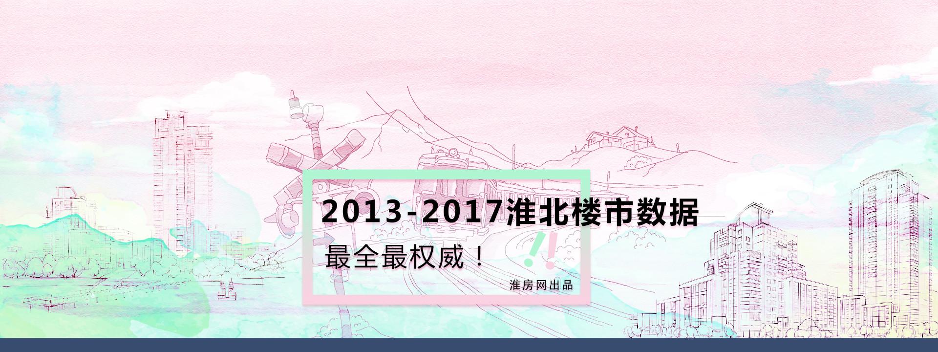 2013-2017 淮北最近五年楼市成交数据一览