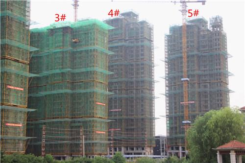 卓瑞北宸龙湖湾7月工程进度:1#楼已建至22层
