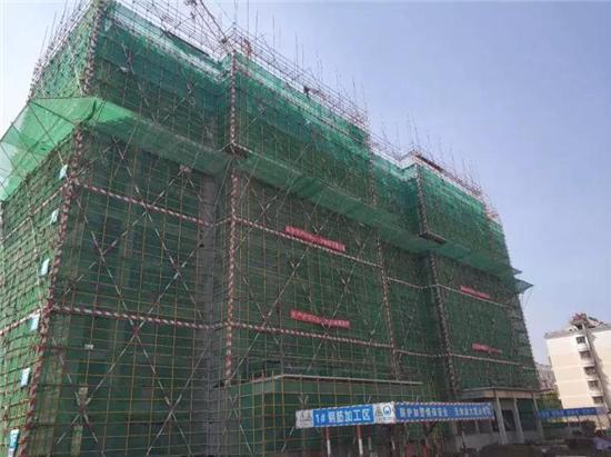 淮北吾悦广场3月工程进度播报 14号楼已封顶